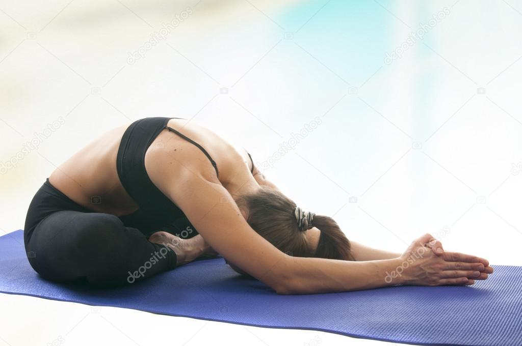 Mudrasana Yoga Yoga Mudrasana Pose Stock Photo C Nanka Photo 22801762