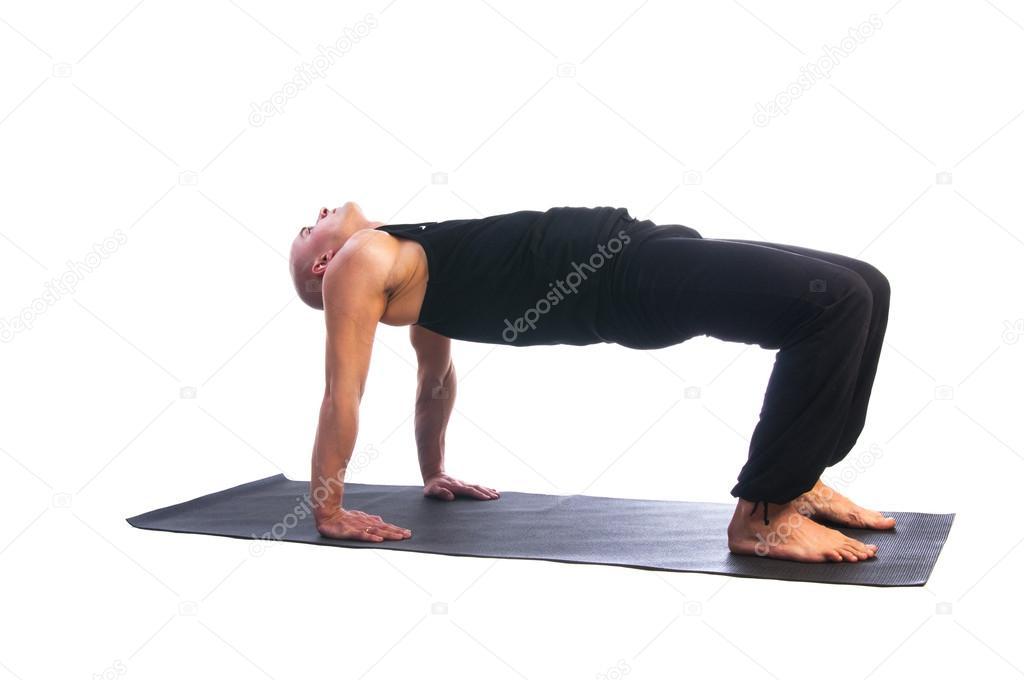 Man in table pose ardha purvottanasana stock photo for Table yoga pose