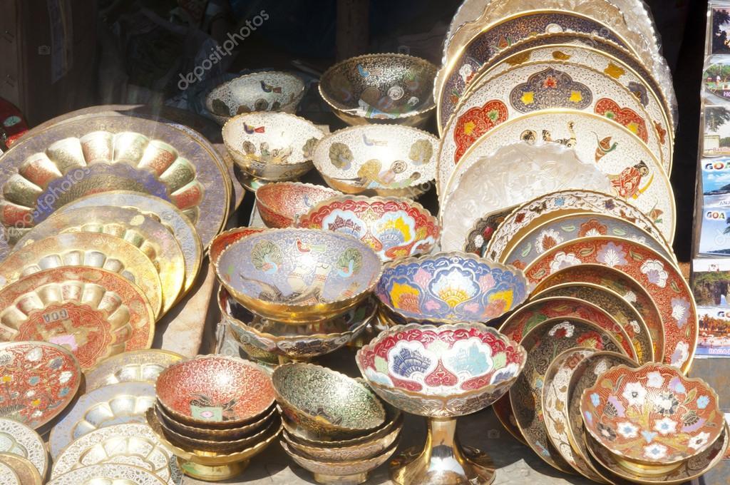 Plates For Sale >> Ornate Indian Plates For Sale Stock Photo C Nanka Photo
