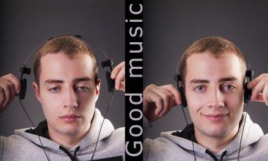 Man listening to good music