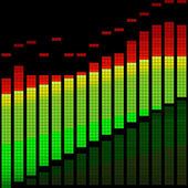 Illustrazione vettoriale di un equalizzatore digitale