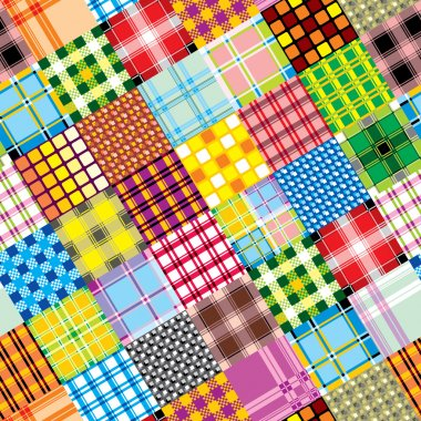Textile patchwork square