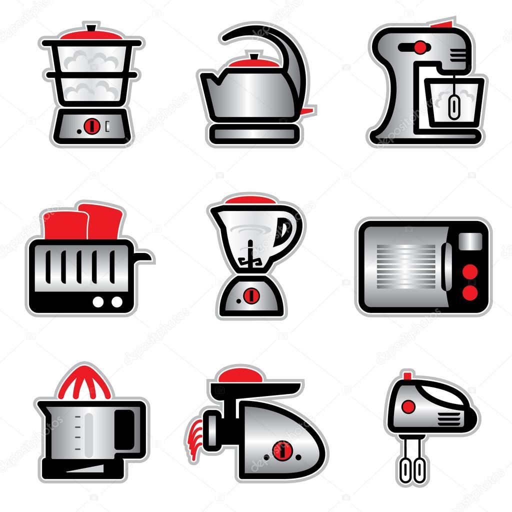 Pegatinas de utensilios de cocina vector de stock print2d 18281469 - Pegatinas para cocinas ...