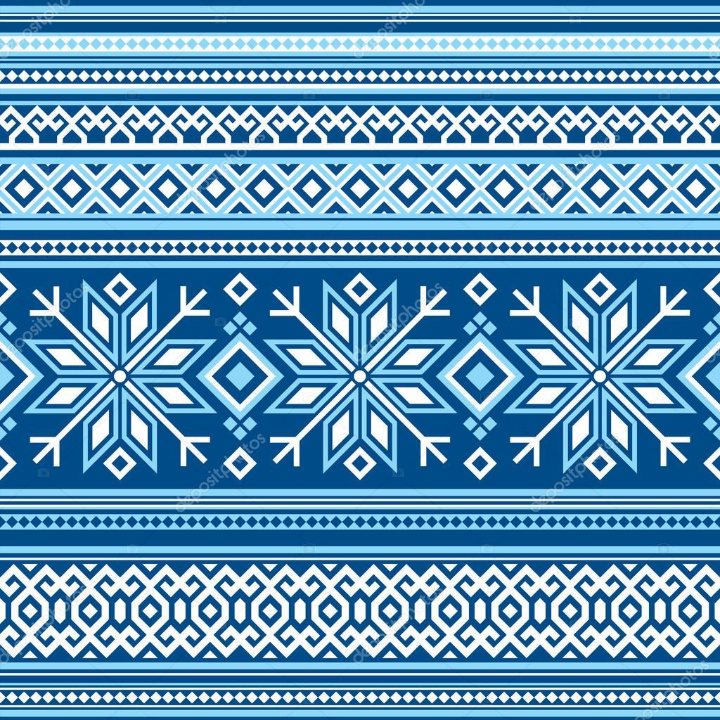 Skandinavische muster blau  Skandinavische Muster seamless — Stockvektor © print2d #40066199
