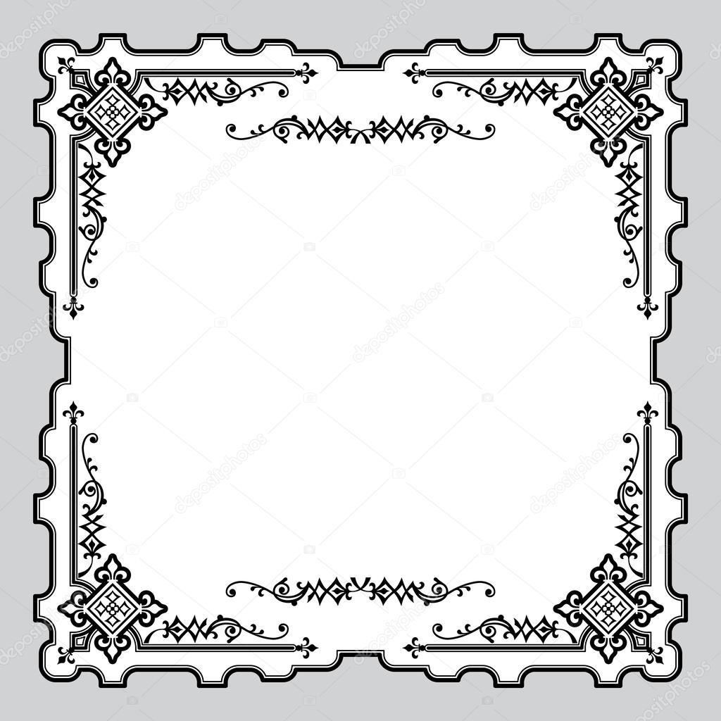 ornamente rahmen — Stockvektor © print2d #44650467