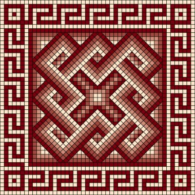 Classic Greek meander ornament