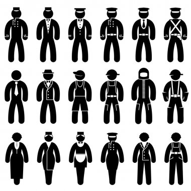 Peoples in uniforms