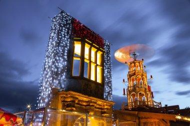 Christmas Market illuminated at night