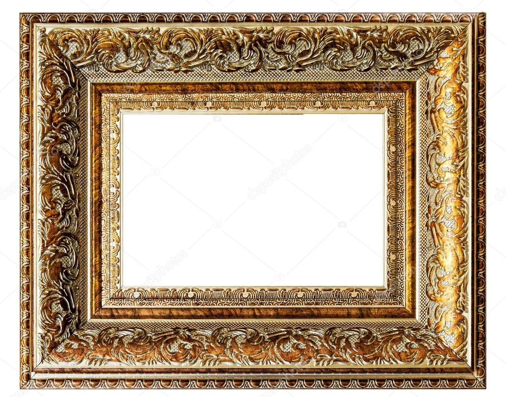 golden vintage empty frame — Stock Photo © fotoall #30536003