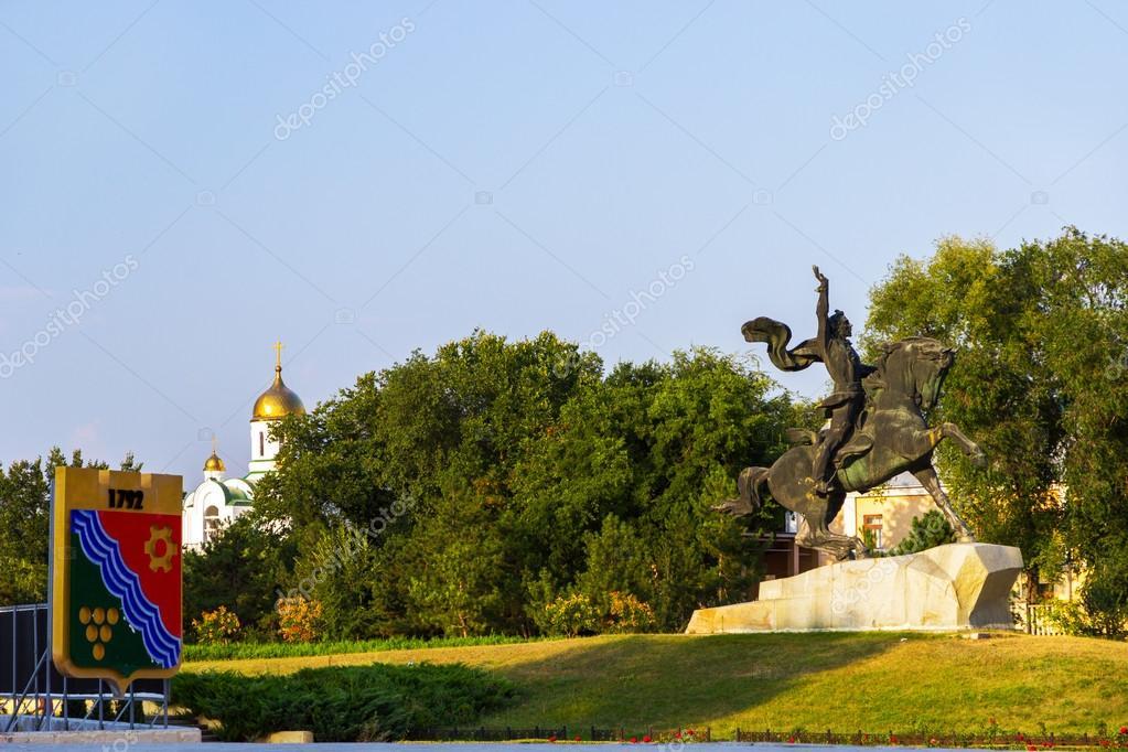 Monument to Alexander Suvorov in Tiraspol, Transnistria.