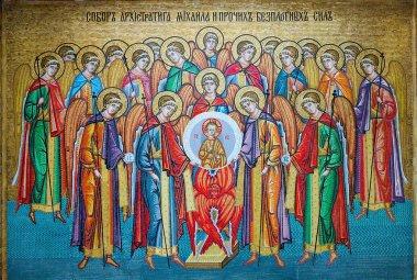 mosaic icon in Odessa Orthodox Christian monastery