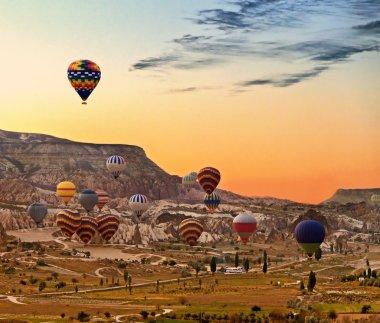 Balloons flying over Cappadocia Turkey