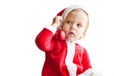surprised little santa helper