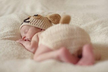 funny sleeping newborn