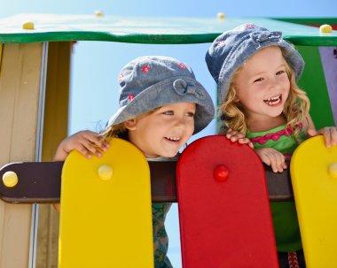 Happy children on the playground