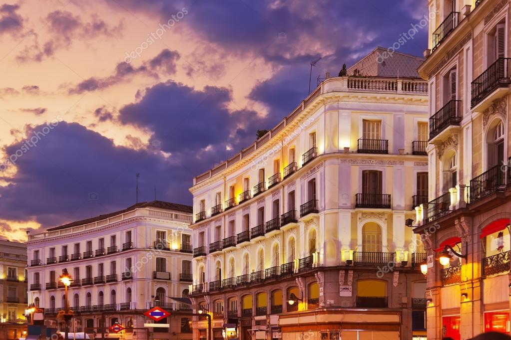 Madrid Spain at sunset