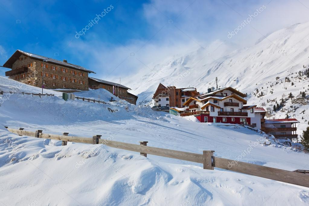 Mountain ski resort Obergurgl Austria