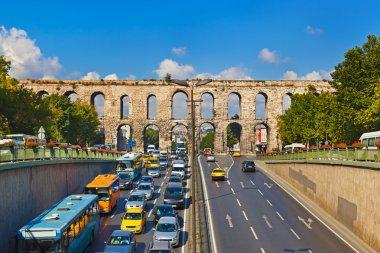 Car traffic at Istanbul Turkey