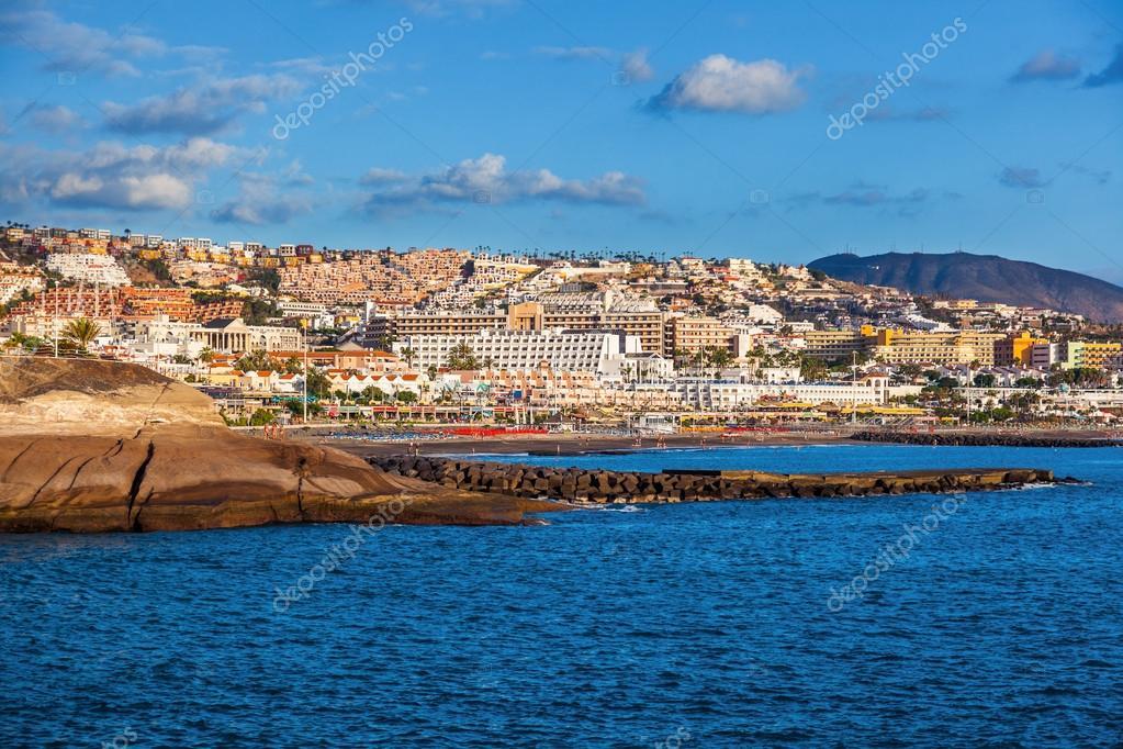 Baños Tenerife | Praia De Las Americas Na Ilha De Tenerife Canarias Stock