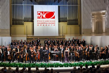 MOSCOW, RUSSIA - NOVEMBER 15: Russian National Orchestra perform