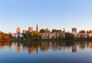 Panorama of Novodevichiy convent in Moscow Russia