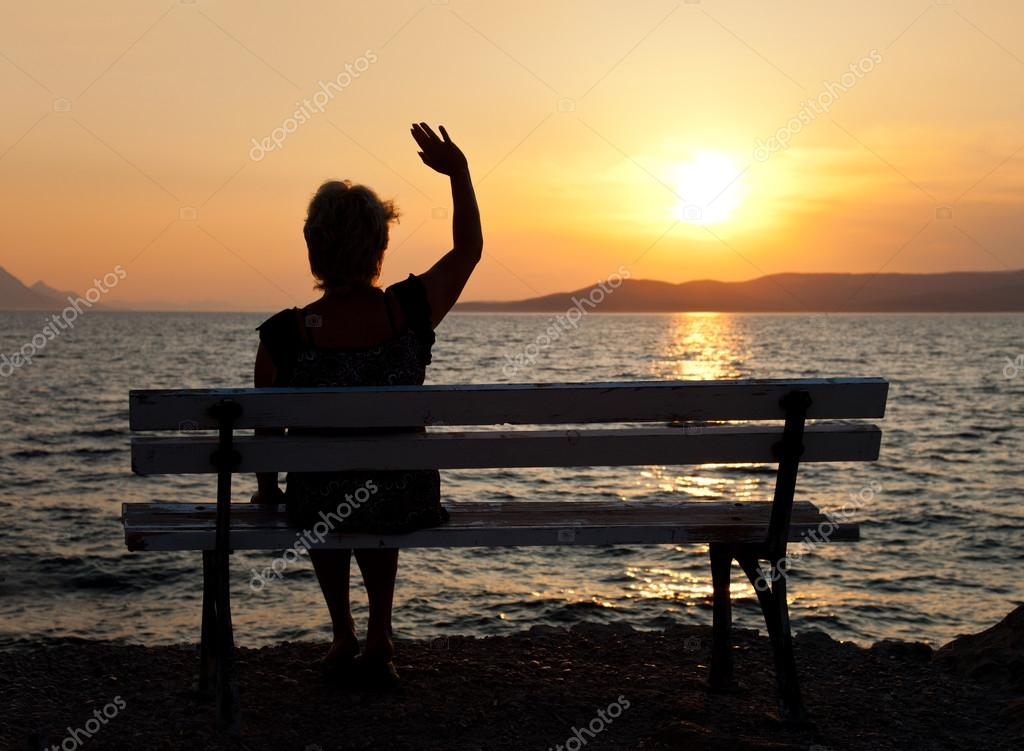 Woman and sunset