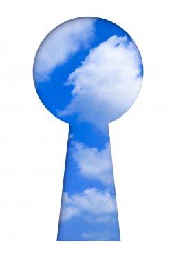 Sky in keyhole