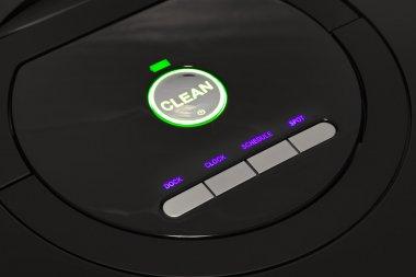 Control panel of robotic vacuum cleaner