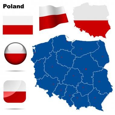 Poland vector set