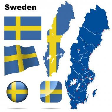 Sweden vector set.