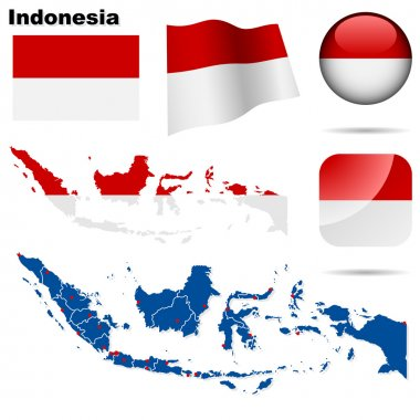 Indonesia vector set.