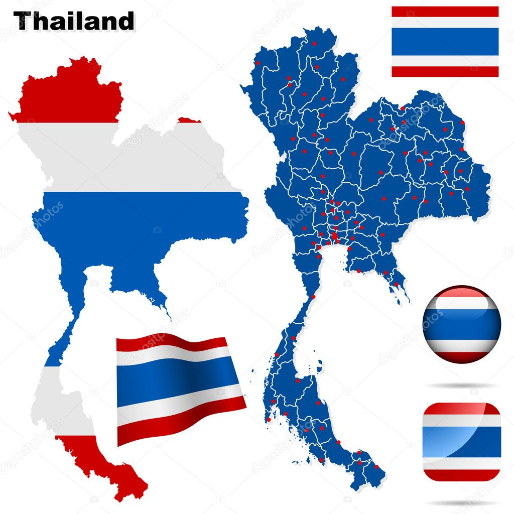 Thailand vector set.