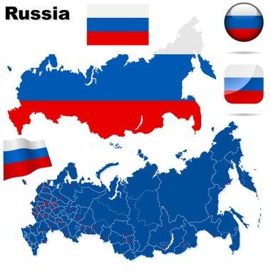 Russian Federation vector set.