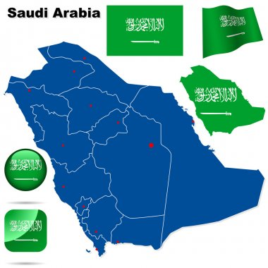 Saudi Arabia vector set.