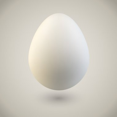 Blank white Easter vintage colored egg