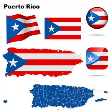 Puerto Rico vector set.