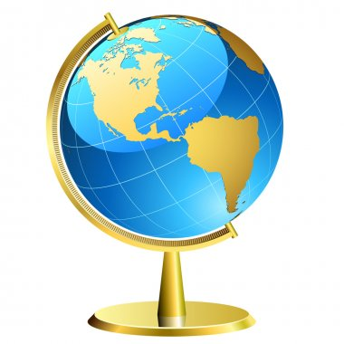 Globe with golden support