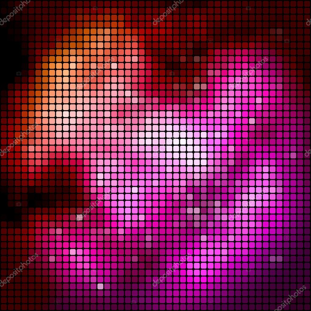 Magenta colored perspective mosaic vector background.