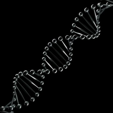 Abstract DNA chrome spiral