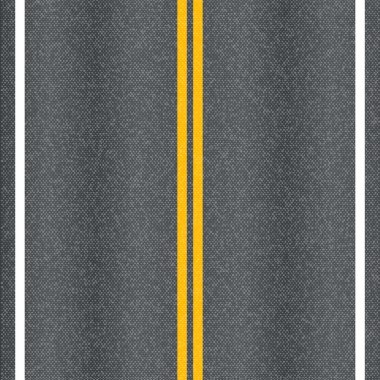 Asphalt road vector texture with marking lines.