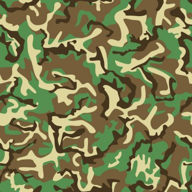 Seamless green, yellow and brown camouflage pattern.