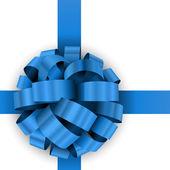Fényképek karácsonyi jelen kék íj vektor sablon