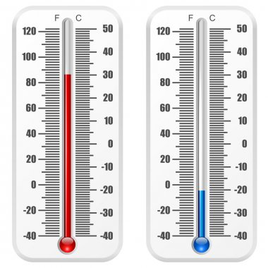 Standard thermometer vector template isolated on white backgroun