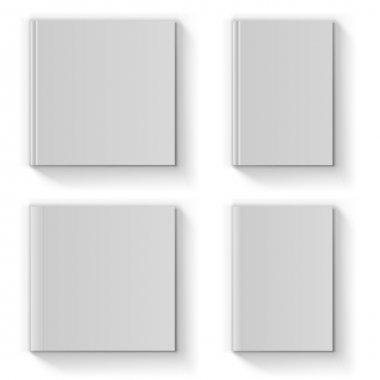 Blank book cover vector template