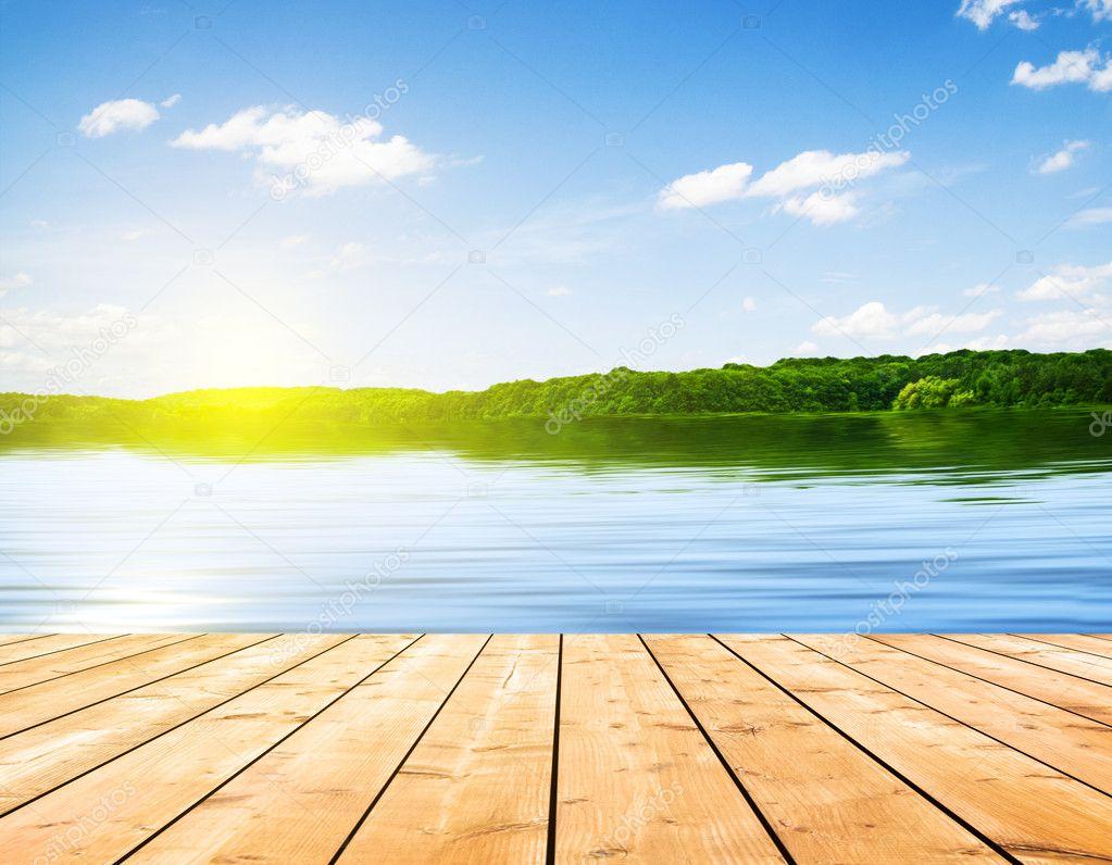 Lake and board