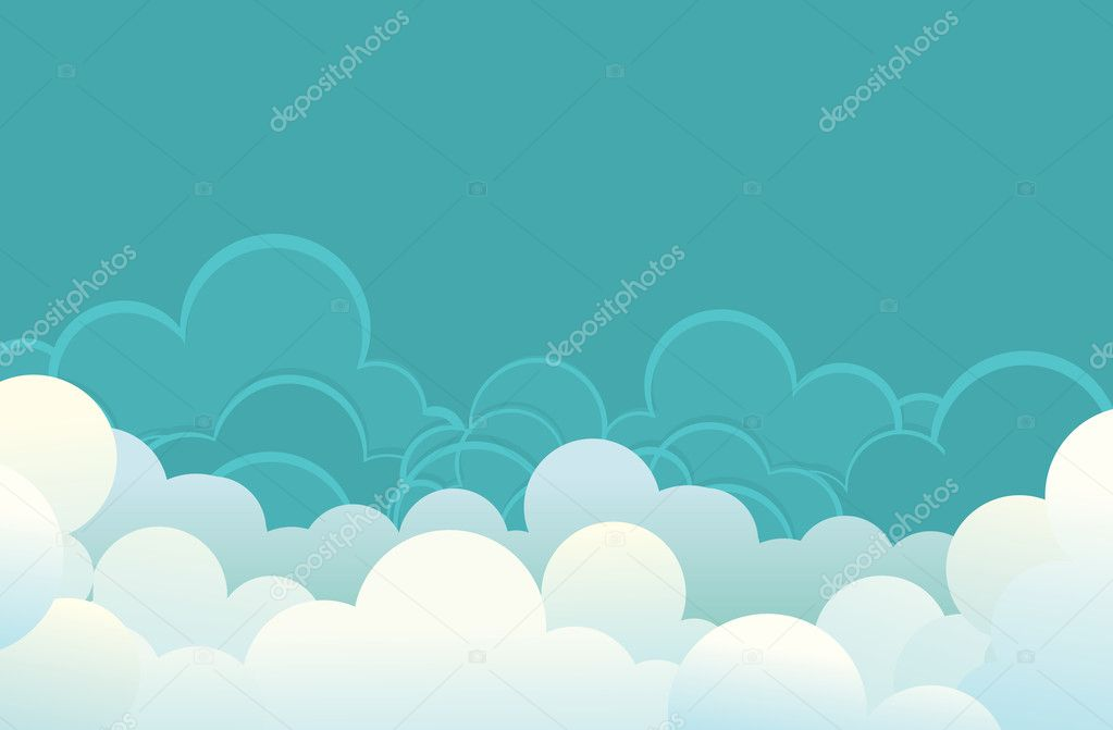 Clouds .Vector image for design