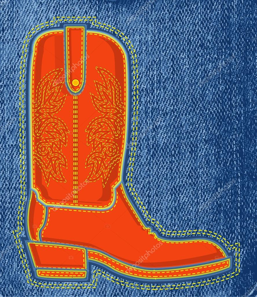 a36ff2528 zapato vaquero vaqueros background.vector símbolo del arranque ...