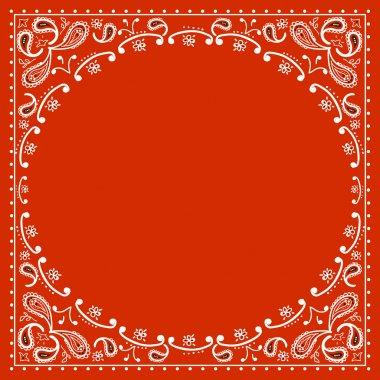 red cowboy bandanna