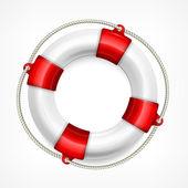 Rettungsboje auf weiß