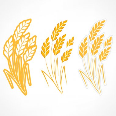 Stylized ears of wheat